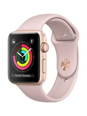 Apple Watch Series 3 - 38MM Gold Aluminum Case with Pink Sand Sport Band