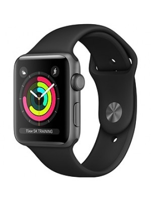 Apple Watch Series 3 - 38MM Space Gray Aluminum Case with Black Sport Band